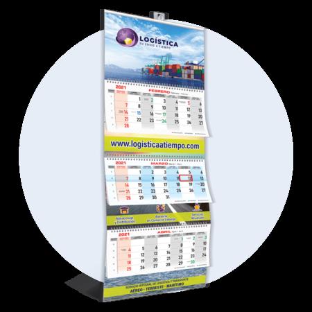 Calendario Trimestral 100% personalizado